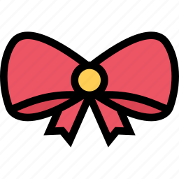 bow, christmas, holidays, new year, winter icon