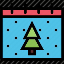 calendar, christmas, holidays, new year, winter icon