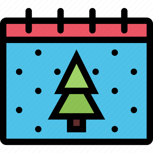calendar, christmas, holidays, new year, winter icon