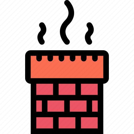 chimney, christmas, holidays, new year, winter icon