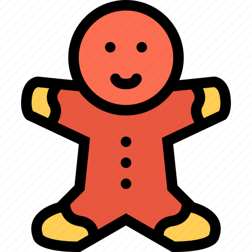 christmas, gingerbread, gingerbread man, holidays, new year, winter icon