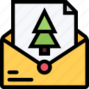 christmas, holidays, letter, new year, winter icon