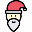 christmas, holidays, new year, santa, santa claus, winter icon