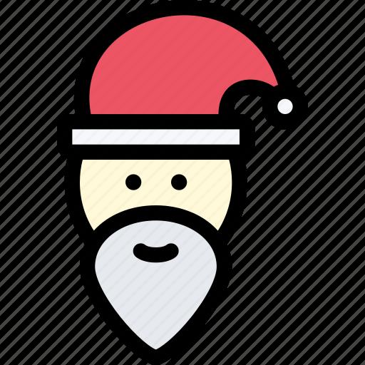 christmas, holidays, new year, santa, santa claus, winter icon