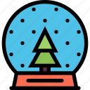 christmas, holidays, new year, snow, snow globe, winter icon