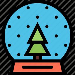 christmas, holidays, new year, snow, snow globe, winter icon