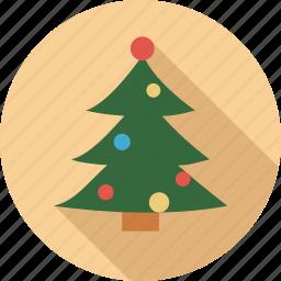 bells on tree, christmas, christmas tree, green tree, tree icon