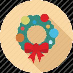 bells, christmas decoration, colorful christmas, decoration, ribbon icon