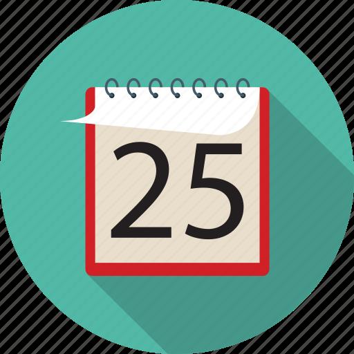 calendar, christmas calendar, christmas holiday, happy holidays, winter holidays icon