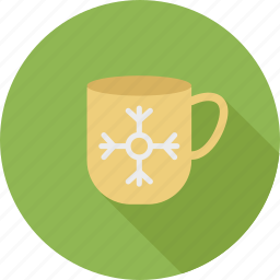 christmas, christmas cup, cup, cup and snow, snowflake, snowflake on cup, winter icon