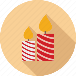 candle, candle light, candles, christmas candles, colorful candles icon