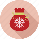 bag, christmas, christmas bell, christmas gift bag, decoration icon