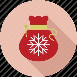 bag, christmas, christmas bell, christmas gift bag, decoration icon