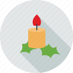 candle, candle light, christmas, colorful candle icon