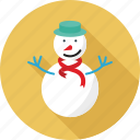 christmas, ice man, snow man, snowman, winter icon