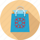 christmas bag, shopping, shopping bag, winter sale icon