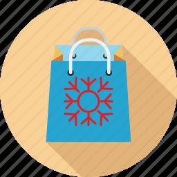 christmas bag, shopping, shopping bag, winter sale icon