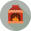 fire, heated area, heater, room fire icon