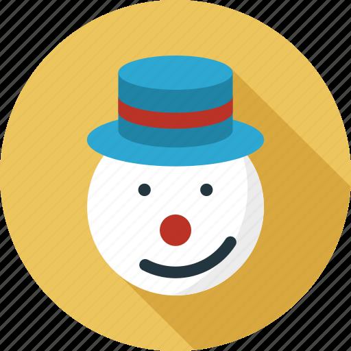 avatar, face, hat on snowman, santa claus, snowman, snowman face icon