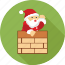 ask santa, santa, santa claus, santa clause, santa on wall, wall icon
