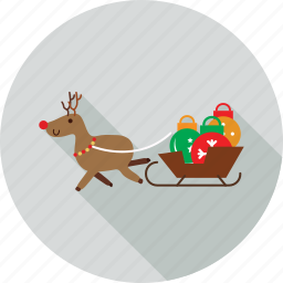 christmas bells, christmas slides, sleds icon