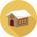 home, house, ice on home, ice on house, winter icon