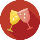 celebration, drink, drink glasses, glass, glasses, party icon