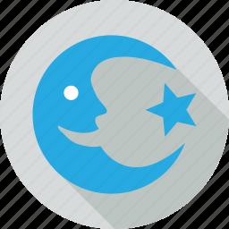 moon, moon and star, star, symbolic moon icon
