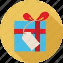 gift box, sale tag, tag, tag and gift box icon