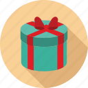 gift, gift box, rounded gift box icon