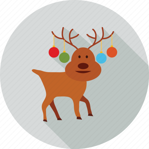 christmas, decoration, elements, snow and animal icon