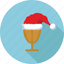 cap, drink, glass, hat, santa claus, santa claus cap icon