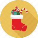 christmas elements, christmas socks, socks icon