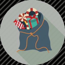 bag, christmas shopping, shopping bag icon