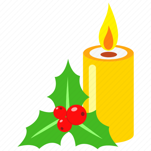 candle, celebration, christmas, decoration, holiday, merry, xmas icon