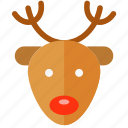 christmas, deer, holiday, merry, rudolf, xmas icon