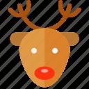 christmas, xmas, rudolph icon