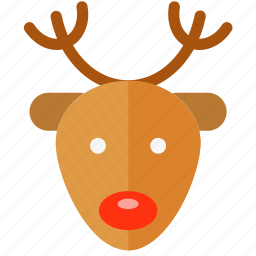 christmas, deer, holiday, merry, rudolf, xmas icon