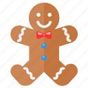 christmas, gingerbread, holiday, merry, xmas icon