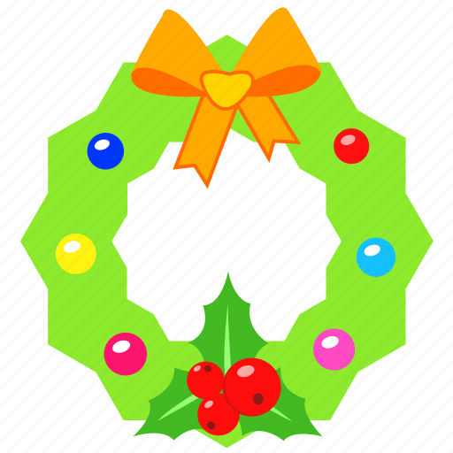 celebration, christmas, decoration, holiday, merry, wreath, xmas icon