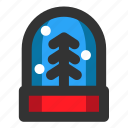christmas, decoration, snow globe, snowflake, winter, xmas icon