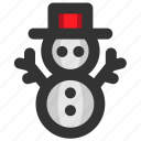 christmas, decoration, snow, snowflake, snowman, winter, xmas icon