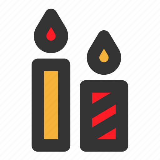 candle, christmas, decoration, fire, light icon
