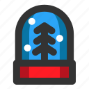 christmas, decoration, snow, snow globe, winter, xmas icon