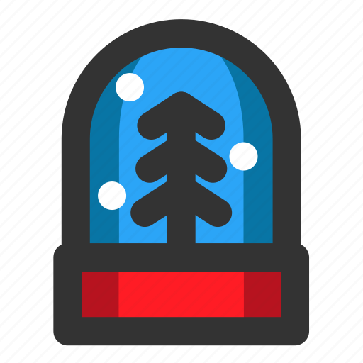 christmas, decoration, snow, snow globe, winter, xmas icon