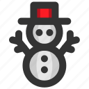 christmas, cold, snow, snowman, winter, xmas