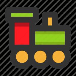 christmas, toy, train, xmas icon