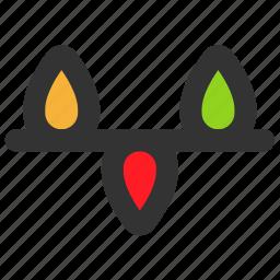 bulb, christmas, decoration, light, lights, xmas icon