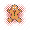 bread, cake, comics, funnies, ginger, gingerbread, sweet icon