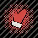 comics, funnies, gantlet, gauntlet, mitten, muffle, muffler mitten icon